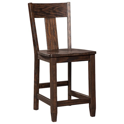Signature Design by Ashley Trudell Solid Wood Pine Counter Barstool