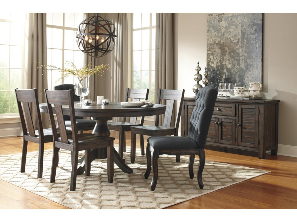 Oval Kitchen Table Sets Signature Design By Ashley Trudell 7 Piece Oval Dining Table Set
