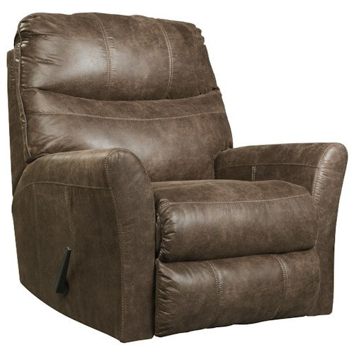 Signature Design by Ashley Tullos Rocker Recliner with Flared Arms