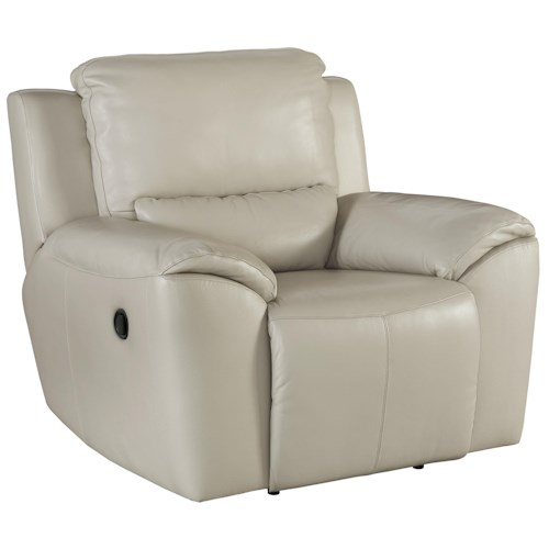 Signature Design by Ashley Valeton Contemporary Leather Match Zero Wall Recliner