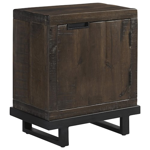Signature Design by Ashley Vendol Rectangular End Table with Door & 2 Shelves