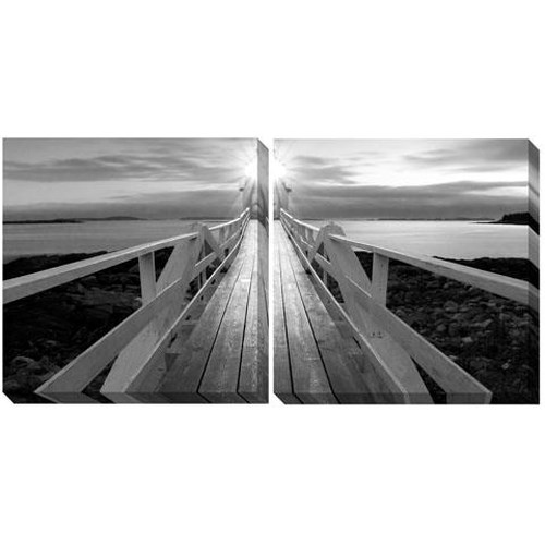 Signature Design by Ashley Wall Art Gallery Wrapped Canvas (Black/White) - Wall Art Set