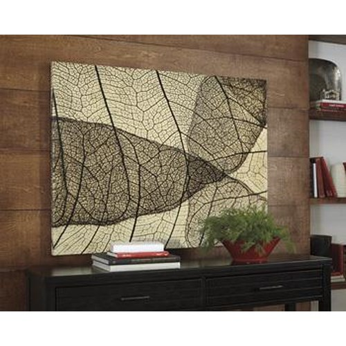 Signature Design by Ashley Wall Art Bardaric Contemporary Wall Art - Sepia