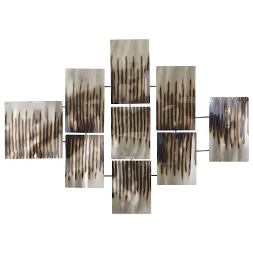 Signature Design by Ashley Wall Art Oeneus Silver/Brown/Gold Finish Wall Decor