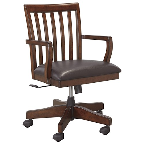 Signature Design by Ashley Wassner Solid Wood Home Office Swivel Desk Chair