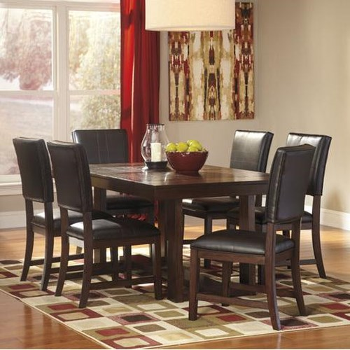 Signature Design by Ashley Watson  Contemporary 7 Piece Dining Table Set