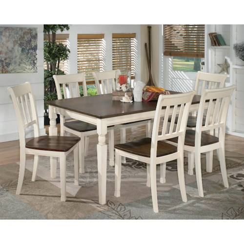 Signature Design by Ashley Whitesburg 7-Piece Rectangular Dining Table Set