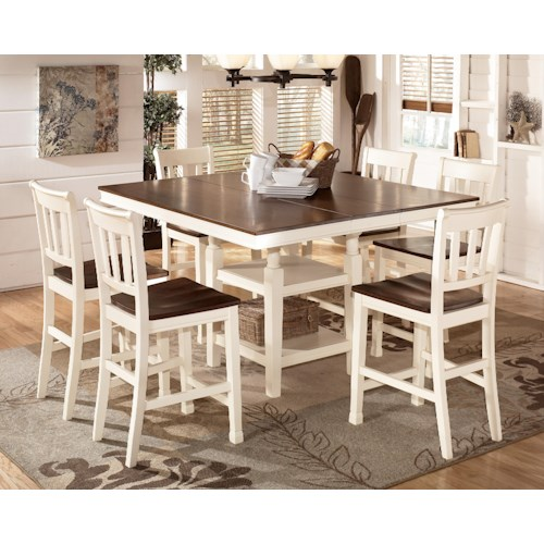 Signature Design by Ashley Whitesburg 7-Piece Counter Extension Table Set