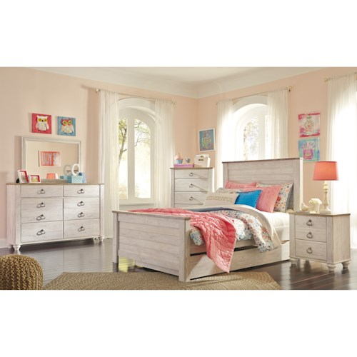 Signature Design By Ashley Willowton Queen Bedroom Group: Signature Design By Ashley Willowton Full Bedroom Group