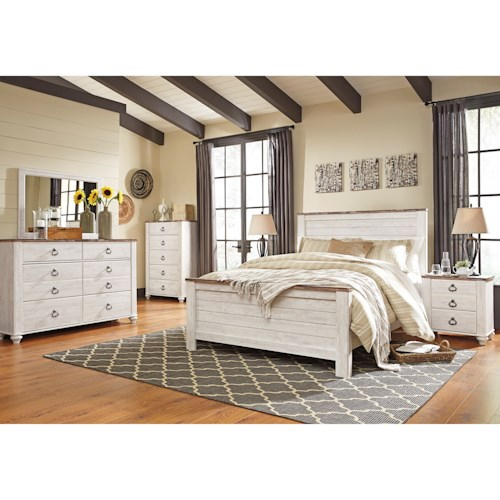 Signature Design by Ashley Willowton Queen Bedroom Group