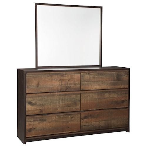 Signature Design by Ashley Windlore Modern Rustic Dresser & Bedroom Mirror