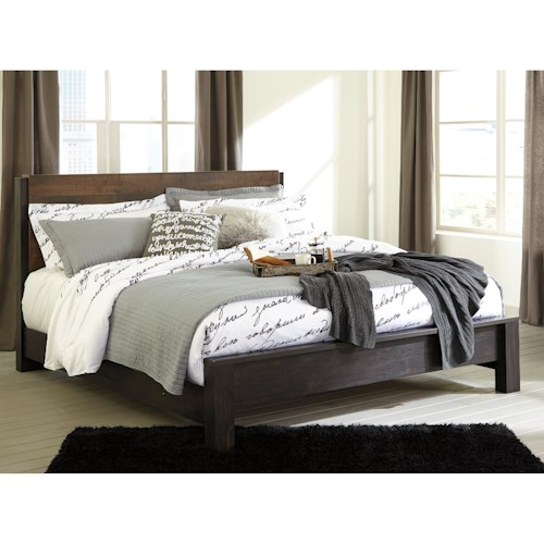 Signature Design by Ashley Windlore Modern Rustic King Panel Bed