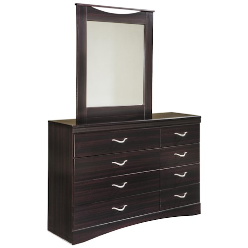 Signature Design by Ashley Zanbury Asymmetrical Dresser & Mirror