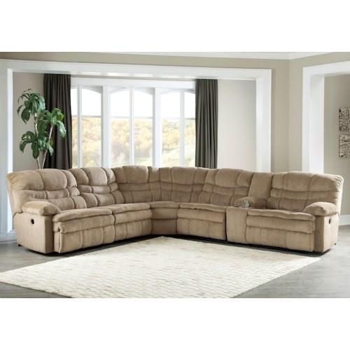 Signature Design by Ashley Zavion 6Pc Power Recl Sectional w/ Storage Console