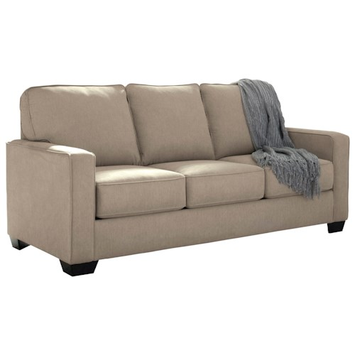 Signature Design by Ashley Zeb Full Sofa Sleeper with Memory Foam Mattress