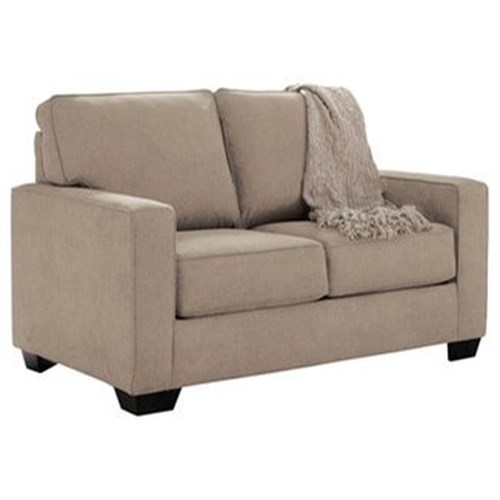 Signature Design by Ashley Zeb Twin Sofa Sleeper with Memory Foam Mattress