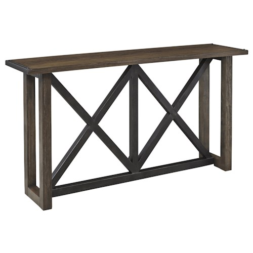 Signature Design by Ashley Zenfield Wood/Metal Sofa Table