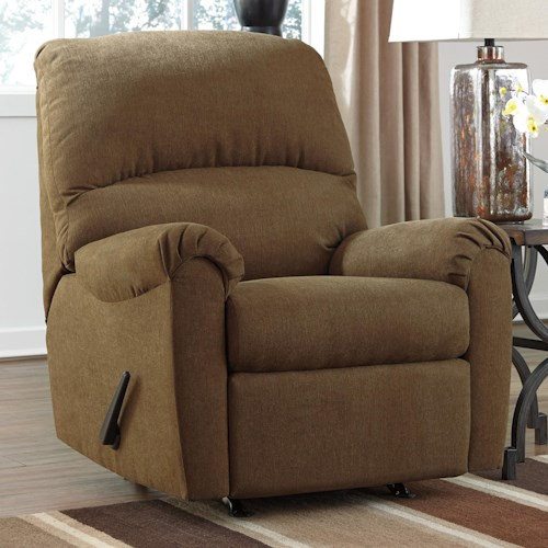 Signature Design by Ashley Zeth - Basil Casual Contemporary Rocker Recliner