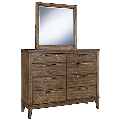 Signature Design by Ashley Zilmar Contemporary Dresser & Bedroom Mirror