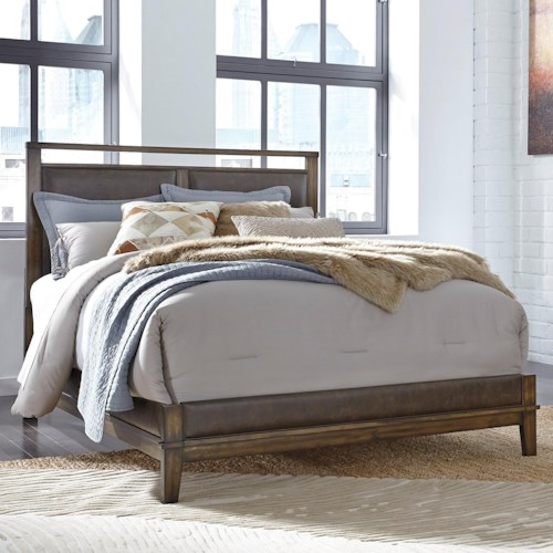 Signature Design by Ashley Zilmar Contemporary California King Upholstered Panel Bed