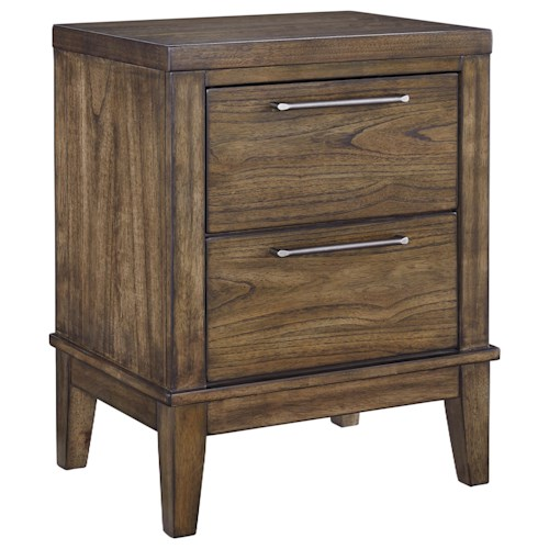 Signature Design by Ashley Zilmar Contemporary Two Drawer Night Stand