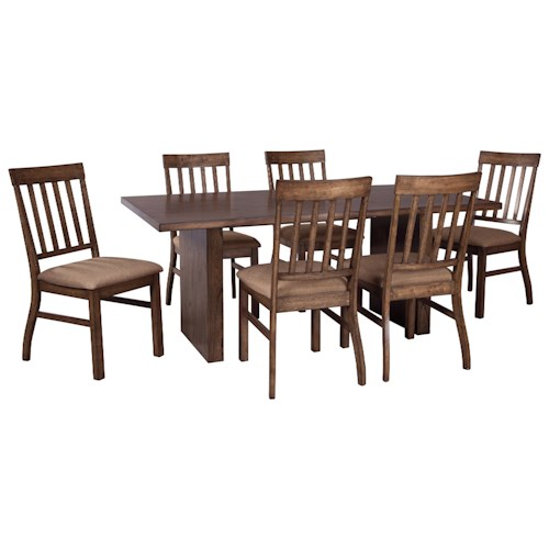 Signature Design by Ashley Zilmar 7-Piece Rectangular Dining Table Set