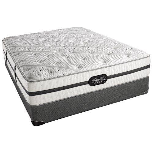 Simmons Beautyrest Black - Ava  Cal King Luxury Firm Mattress and Renew Plus Adjustable Base Grey