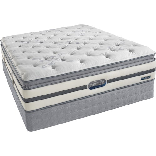 Simmons Beautyrest Recharge Classic Meridale Full Plush Pillow Top Mattress and Foundation