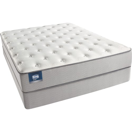 Beautyrest Beautysleep Andrea 2015 Twin Extra Long Plush Mattress and Triton-Lite Regular Profile Foundation