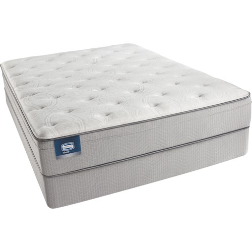 Beautyrest Beautysleep Caitlyn Full Plush Euro Top Mattress and Triton-Lite Regular Profile Foundation