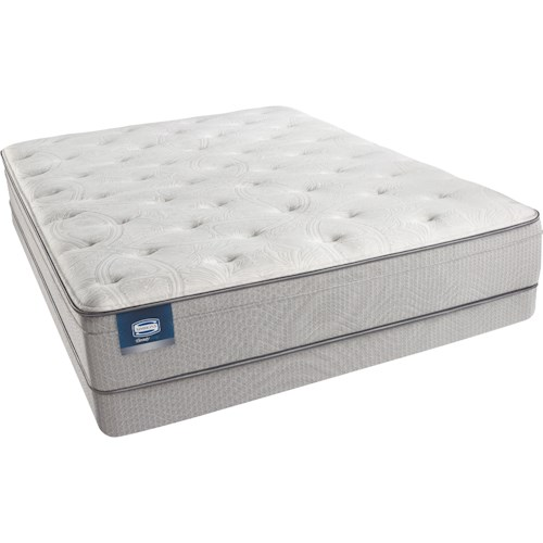 Simmons Beautysleep Caitlyn Cal King Plush Euro Top Mattress and Triton Lite Low Profile Foundation