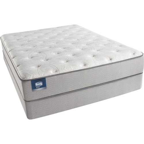 Simmons Beautysleep Erica Cal King Luxury Firm Mattress and Triton-Lite Regular Profile Foundation