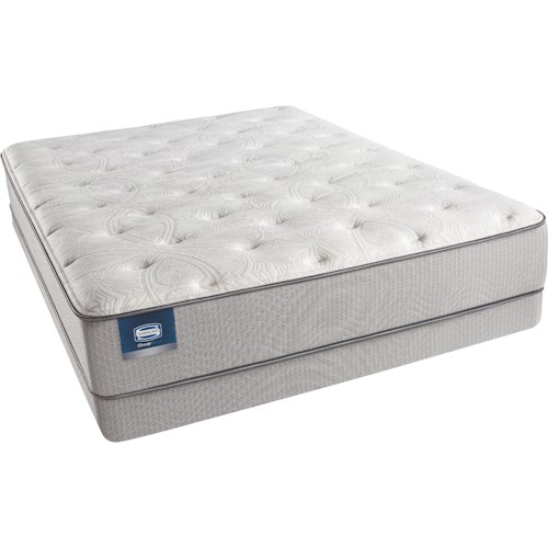 Simmons Beautysleep Erica Twin Luxury Firm Mattress and Triton Lite Low Profile Foundation