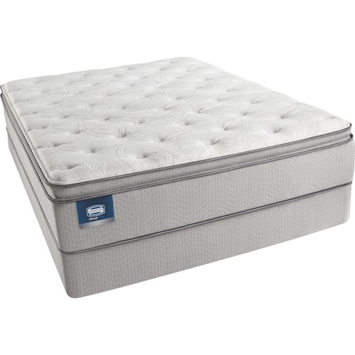 Simmons Beautysleep Erica Queen Plush Pillow Top Mattress and Triton-Lite Regular Profile Foundation
