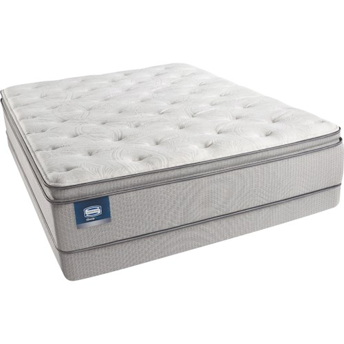 Beautyrest Beautysleep Erica Twin Plush Pillow Top Mattress and Triton Lite Low Profile Foundation