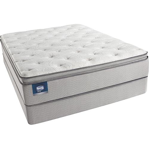 Beautyrest Beautysleep Erica Twin Plush Pillow Top Mattress and Triton-Lite Regular Profile Foundation