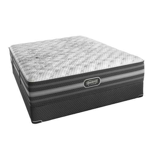 Beautyrest BR Black Calista Twin Extra Long Extra Firm Mattress and BR Black Low Profile Foundation