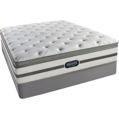 Simmons BR Ridgewood Plush PT Full Plush Pillow Top Mattress and Low Profile Foundation