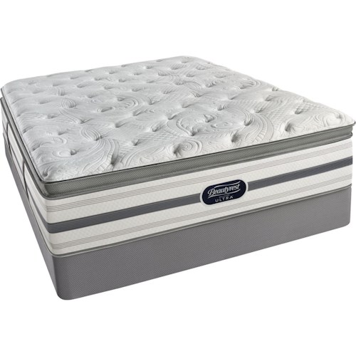 Simmons BR Skyridge Luxury Firm PT King Luxury Firm Pillow Top Mattress and Low Profile Foundation