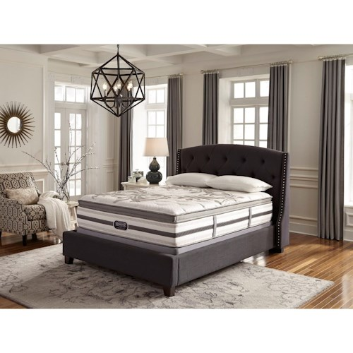 Simmons BR WC Irwindale King Plush Box Top Mattress and World Class Foundation