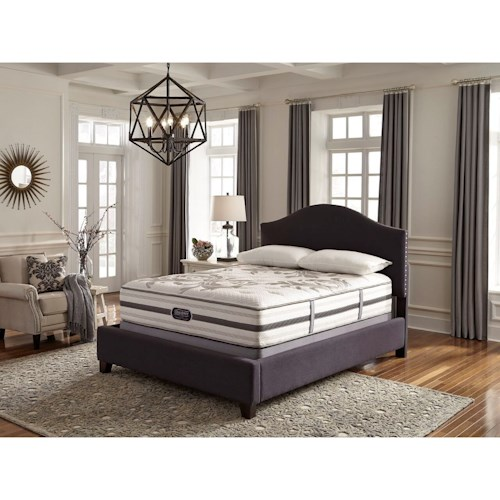 Simmons BR WC Kincaid Plush Queen Plush Mattress and World Class Low Profile Foundation