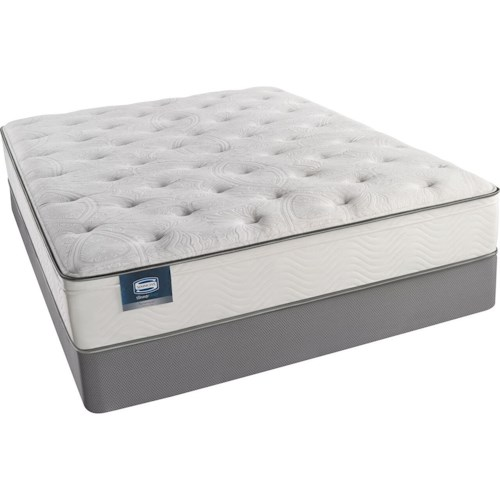Simmons BS Portsmouth Plush ET King Plush Euro Top Mattress and Triton Lite Low Profile Foundation