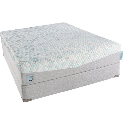 Simmons CPiQ180-LF Queen Luxury Firm Mattress and Foundation