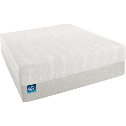 Simmons Curv - All The Rage Twin XL Plush Firm Mattress and Foundation