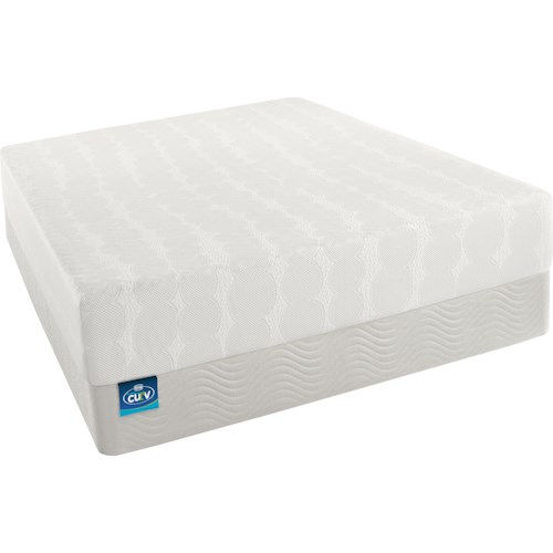Simmons CURV - The Latest Thing Twin Firm Memory Foam Mattress and Foundation