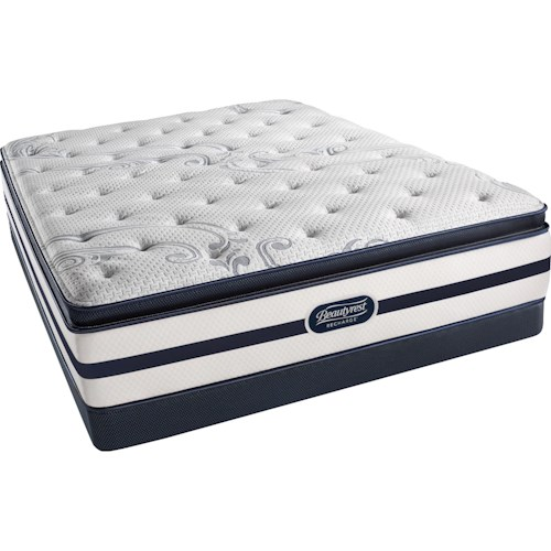 Simmons Elkhart Lake Luxury Firm Pillow Top Twin Extra Long Luxury Firm Pillow Top Mattress and BR Low Profile Foundation