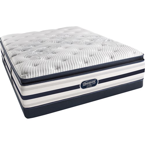 Simmons Erin Plush Pillow Top Queen Plush Pillow Top Mattress and BR Low Profile Foundation