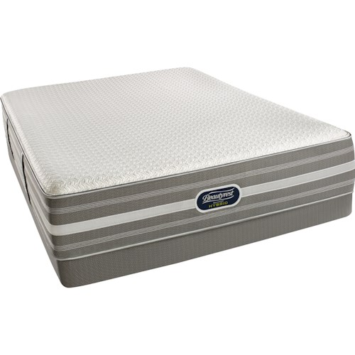 Simmons Recharge Hybrid Level 2 Marlee Cal King Plush Mattress and World Class Low Profile Foundations