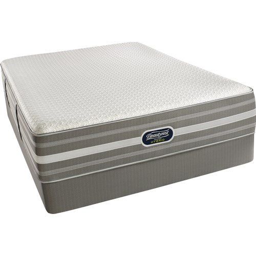Beautyrest Recharge Hybrid Level 3 Nalani Cal King Firm Mattress and World Class High Profile Foundation