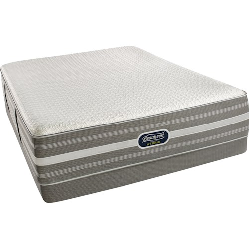 Beautyrest Recharge Hybrid Level 4 Raegan Full Luxury Firm Hybrid Mattress and World Class Low Profile Foundation